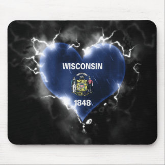 Powerful Wisconsin Mouse Pad
