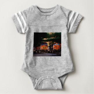 Powerfull locomotives ready to haul baby bodysuit