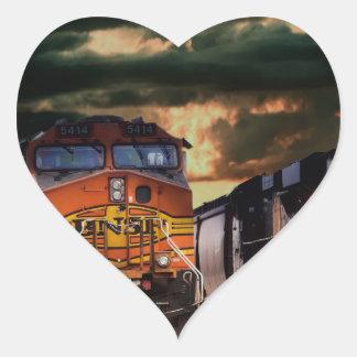 Powerfull locomotives ready to haul heart sticker
