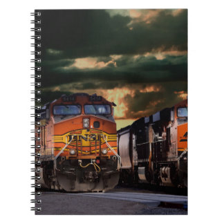 Powerfull locomotives ready to haul notebook