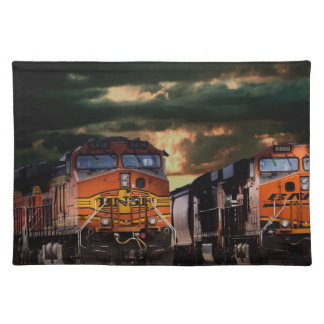 Powerfull locomotives ready to haul placemat