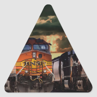 Powerfull locomotives ready to haul triangle sticker