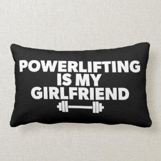 Powerlifting Is My Girlfriend Barbell Motivational Lumbar Pillow