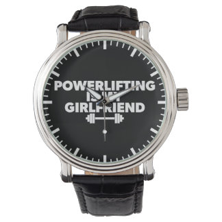 Powerlifting Is My Girlfriend Barbell Motivational Wrist Watches