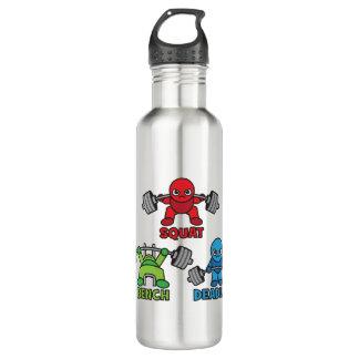 Powerlifting Kawaii - Squat, Bench Press, Deadlift 710 Ml Water Bottle