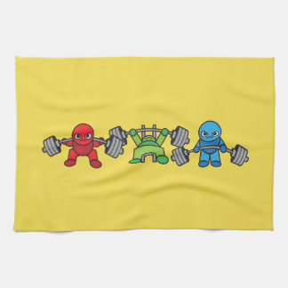 Powerlifting Kawaii - Squat, Bench Press, Deadlift Kitchen Towel