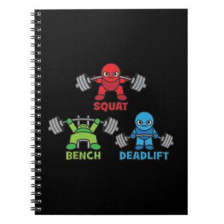 Powerlifting Kawaii - Squat, Bench Press, Deadlift Notebook