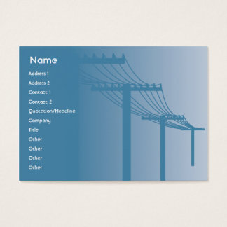 Powerlines - Chubby Business Card