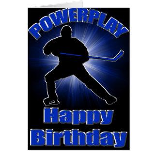 Powerplay Hockey Birthday Card