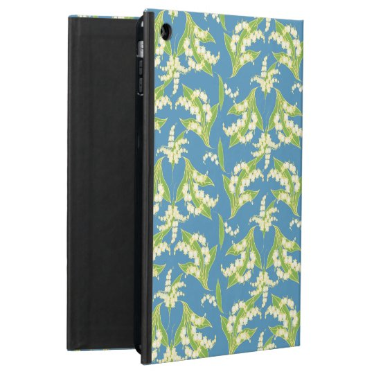 Powis iPad Air Case: Lilies of the Valley on Blue Cover For iPad Air