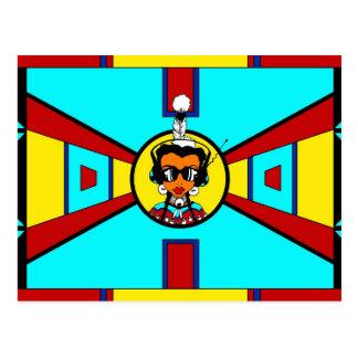 Powwow Girl - Beadwork Design Postcard