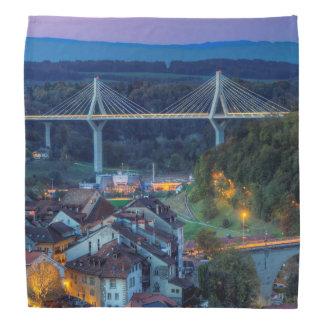 Poya and Zaehringen bridge, Fribourg, Switzerland Bandana