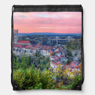 Poya and Zaehringen bridge, Fribourg, Switzerland Drawstring Bag