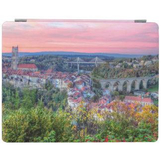 Poya and Zaehringen bridge, Fribourg, Switzerland iPad Cover