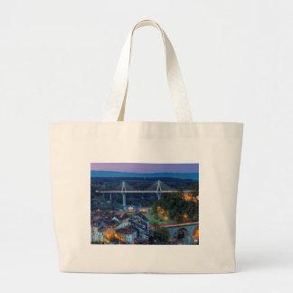 Poya and Zaehringen bridge, Fribourg, Switzerland Large Tote Bag