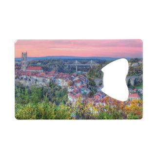 Poya and Zaehringen bridge, Fribourg, Switzerland Wallet Bottle Opener