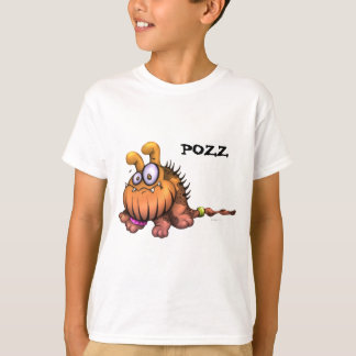 POZZ CUTE DOG CARTOON  HANES TAGLESS SHIRT KID