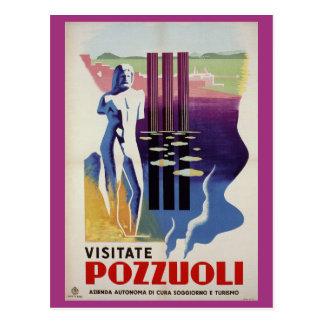 Pozzuoli ancient Greek Roman city Italy travel ad Postcard