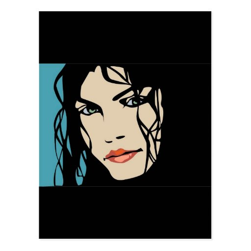 PPA0156 BLACK HAIR BEAUTY SALON SPA FASHION STYLE POST CARDS