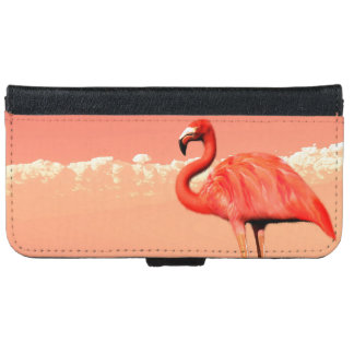 pPink flamingo in the water - 3D render iPhone 6 Wallet Case