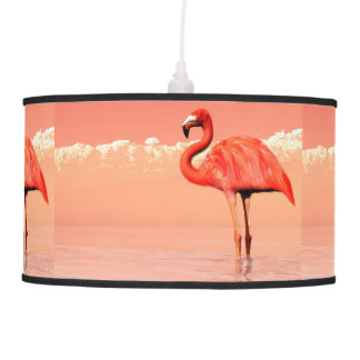 pPink flamingo in the water - 3D render Pendant Lamp