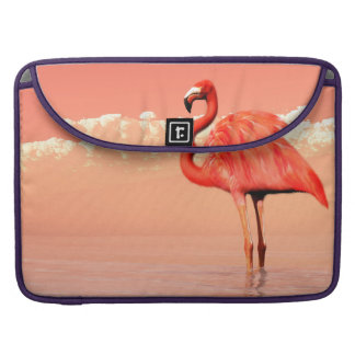 pPink flamingo in the water - 3D render Sleeve For MacBook Pro