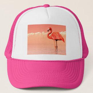 pPink flamingo in the water - 3D render Trucker Hat