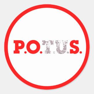 PPOS Stick it to 'em Red Alert Ringer Classic Round Sticker