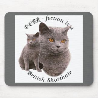 PPURR-fection British shorthair Blue Mouse Pad