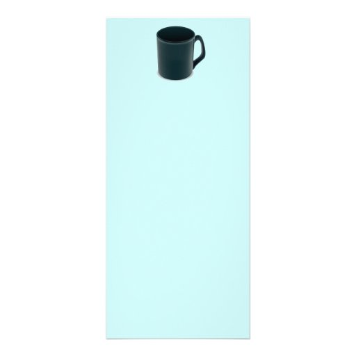 PR052 BLUE TURQUOISE COFFEE MUG CUP VECTOR GRAPHIC RACK CARD TEMPLATE