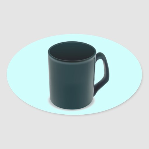 PR052 BLUE TURQUOISE COFFEE MUG CUP VECTOR GRAPHIC STICKER