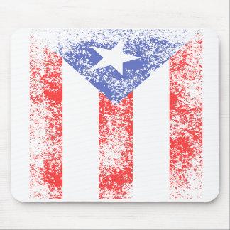 PR Flag Rustic Mousepad