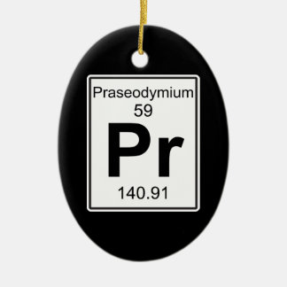 Pr - Praseodymium Ceramic Ornament