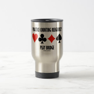 Practice Counting Religiously Play Bridge Mugs