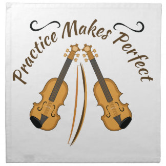 Practice Makes Perfect Napkins