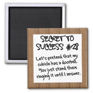 Practice Proper Office Etiquette Square Magnet