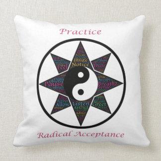 Practice Radical Acceptance Throw Pillows