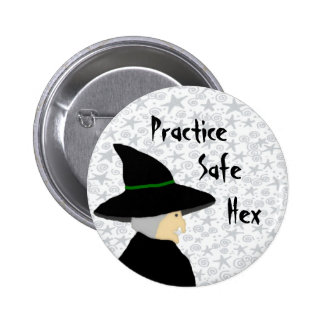 Practice Safe Hex Witch Button