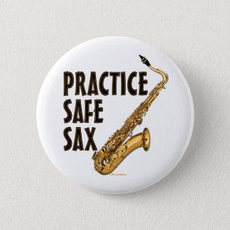 Practice Safe Sax - Tenor 2 Inch Round Button