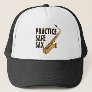 Practice Safe Sax - Tenor Trucker Hat