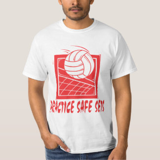 Practice Safe Sets Volleyball T-Shirt