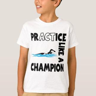 Practice Swim, black T-Shirt