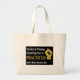 Practice to Win Large Tote Bag