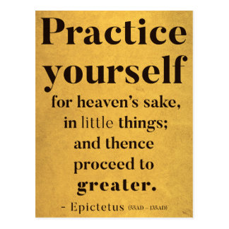 Practice yourself - Motivational quote Postcard