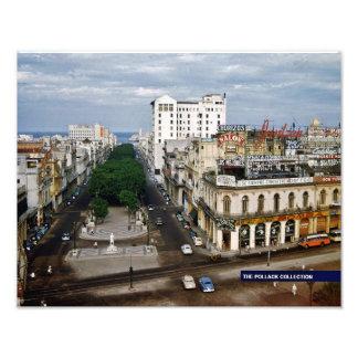 Prado Havana 1957 Full Color Photographic Print