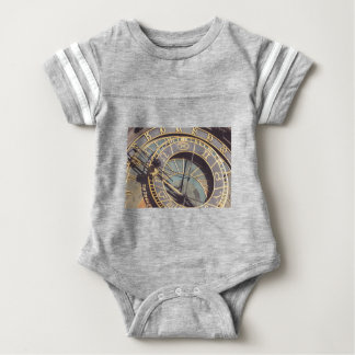 Prague Astronomical Clock Baby Bodysuit