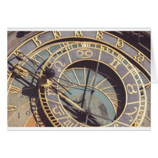 Prague Astronomical Clock Card