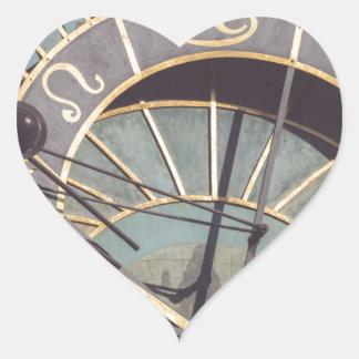Prague Astronomical Clock Heart Sticker