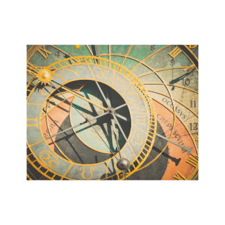 Prague astronomical clock in Czech Republic Canvas Print