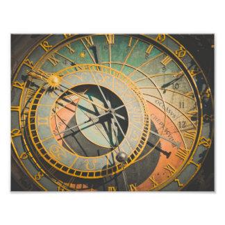 Prague astronomical clock in Czech Republic Photo Print